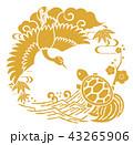 鶴 亀 フレームのイラスト 43265906