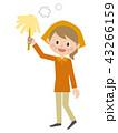 中年女性 掃除 はたき 43266159