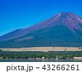 山中湖畔から眺める富士山 43266261