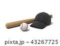 バット ベースボール 白球のイラスト 43267725