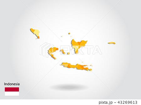 Geometric polygonal style vector map 43269613
