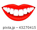 Colorful cartoon healthy smile 43270415