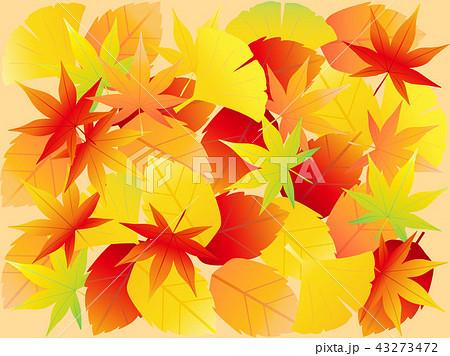 落ち葉壁紙 秋のイラスト素材 43273472 Pixta