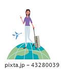 女性 海外 海外旅行のイラスト 43280039
