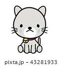 泣き顔 猫 ベクターのイラスト 43281933