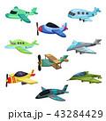 飛行機 航空機 複葉機のイラスト 43284429