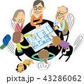 二世帯住宅の相談をする大家族 43286062