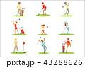 GOLF ゴルフ スポーツのイラスト 43288626