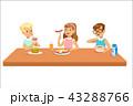 食事 ご飯 飲むのイラスト 43288766