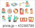 歯医者 歯科医 歯科医師のイラスト 43288780