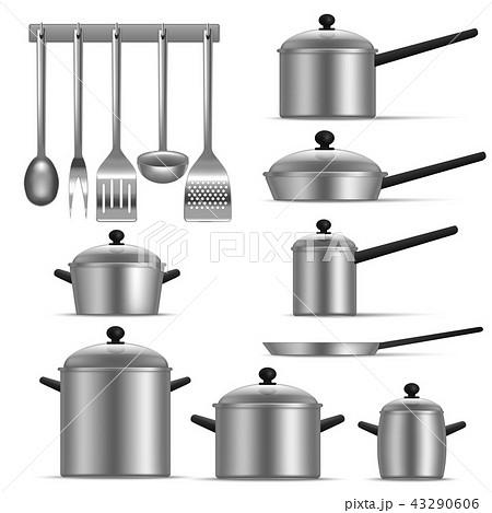Realistic Detailed 3d Kitchen Utensils Set. Vector 43290606