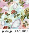 花 水彩画 パターンのイラスト 43291062