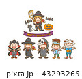 ハロウィン 仮装 魔女のイラスト 43293265