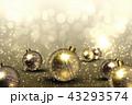 クリスマス オーナメント 金色のイラスト 43293574