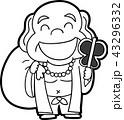 モノクロ 白黒 ベクターのイラスト 43296332