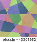 アナログ風カラフルな幾何学模様背景・BG 正方形・スクエア 43305952