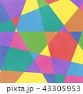 アナログ風カラフルな幾何学模様背景・BG 正方形・スクエア 43305953