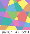 カラフルな幾何学模様背景・BG 正方形・スクエア ベクター素材 43305954