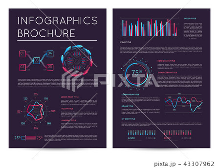 business presentation template with infographicsのイラスト素材