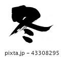 筆文字 墨文字 文字のイラスト 43308295
