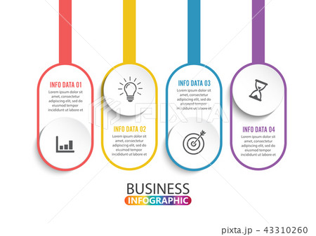 Four steps infographics. Design and marketing. 43310260