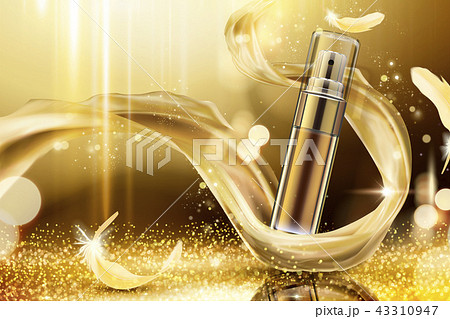 Golden skincare spray ads 43310947
