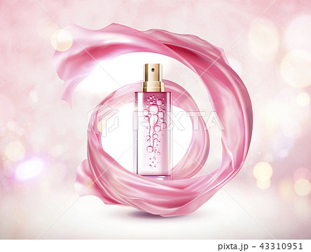 Cosmetic pink spray bottle 43310951
