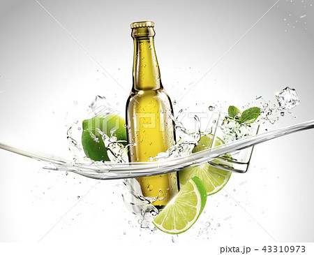 Beverage template with ingredients 43310973