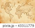 古地図 地図 古いのイラスト 43311779