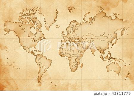 手描き 地図 古地図 テクスチャー 43311779