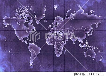 手描き 地図 古地図 テクスチャー 43311780