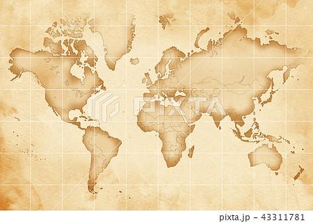 手描き 地図 古地図 テクスチャー 43311781