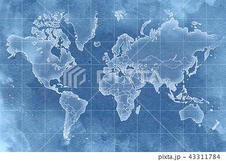 手描き 地図 古地図 テクスチャー 43311784