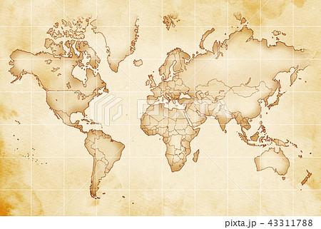 手描き 地図 古地図 テクスチャー 43311788