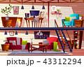 ロフト 屋根裏 屋根裏部屋のイラスト 43312294