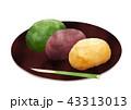 おはぎ ぼたもち 和菓子のイラスト 43313013