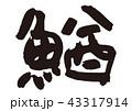 鰌 筆文字 文字のイラスト 43317914