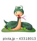 ヘビ 蛇 かわいいのイラスト 43318013