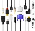 USB ケーブル ベクトルのイラスト 43318865