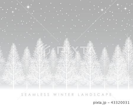 シームレスな雪景色の森 43320031