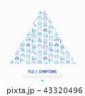 病状 喘息 風邪のイラスト 43320496