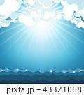 空 海 ブルーのイラスト 43321068