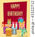お誕生日 バースデー 誕生日のイラスト 43322712