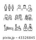 患者 医師 医者のイラスト 43326845