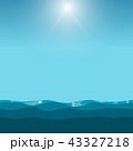 海 空 ブルーのイラスト 43327218