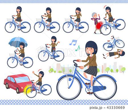 flat type school girl Brown Blazer_city cycle 43330669