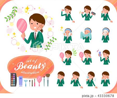 flat type school girl Green Blazer_beauty 43330678
