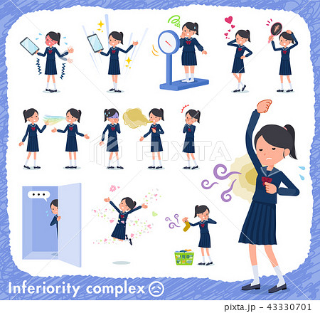 flat type school girl Sailor suit_complex 43330701