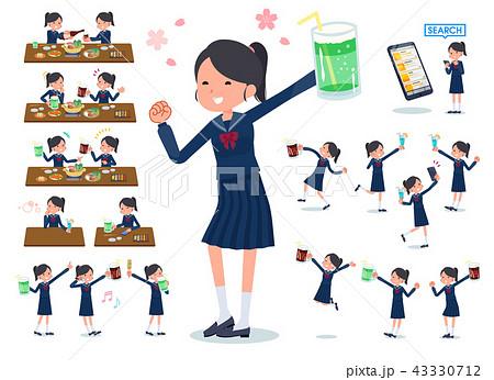 flat type school girl Sailor suit_party 43330712