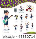 flat type school girl Sailor suit_pop music 43330714